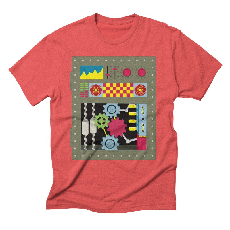 VINTAGE ROBOT Men's Triblend T-Shirt by Sidewise Clothing & Design