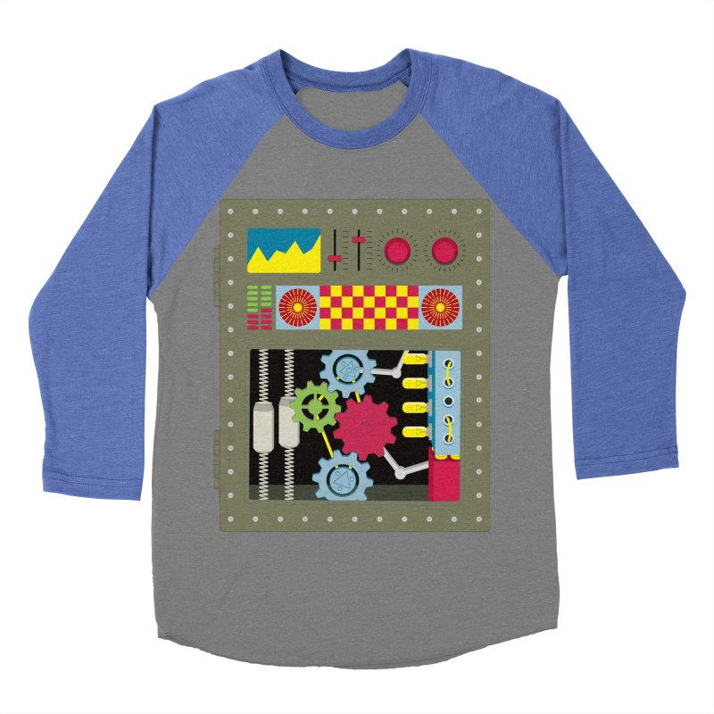 VINTAGE ROBOT Women's Baseball Triblend T-Shirt by Sidewise Clothing & Design