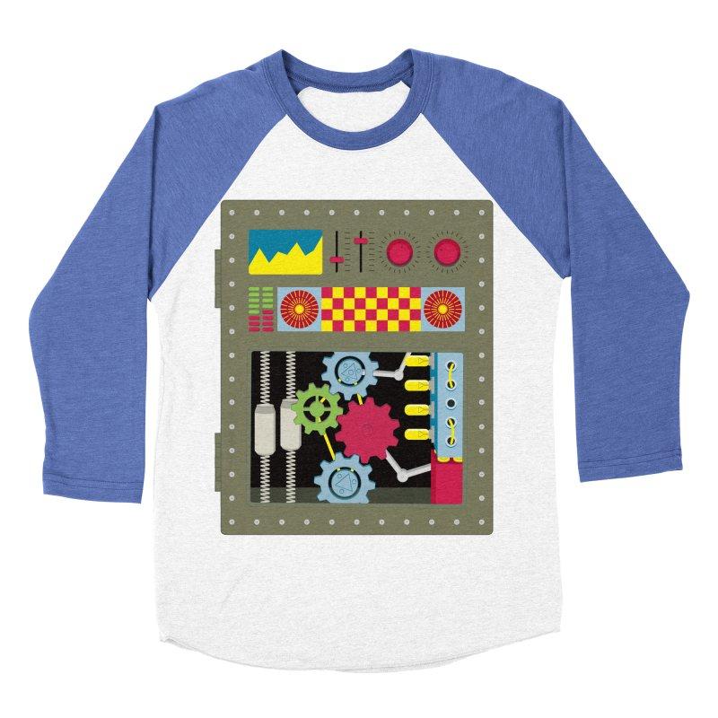 VINTAGE ROBOT Men's Baseball Triblend T-Shirt by Sidewise Clothing & Design