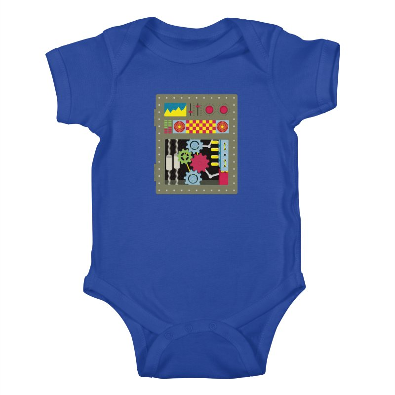 1950s RETRO STYLE VINTAGE ROBOT Kids Baby Bodysuit by Sidewise Clothing & Design