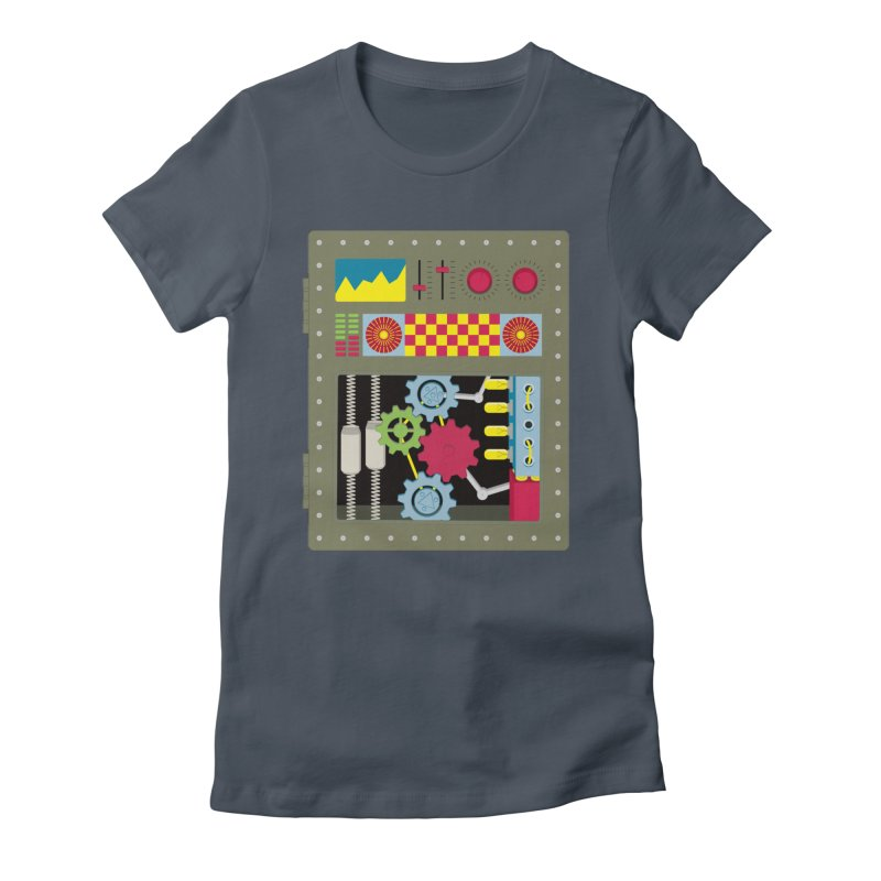 1950s RETRO STYLE VINTAGE ROBOT Women's T-Shirt by Sidewise Clothing & Design