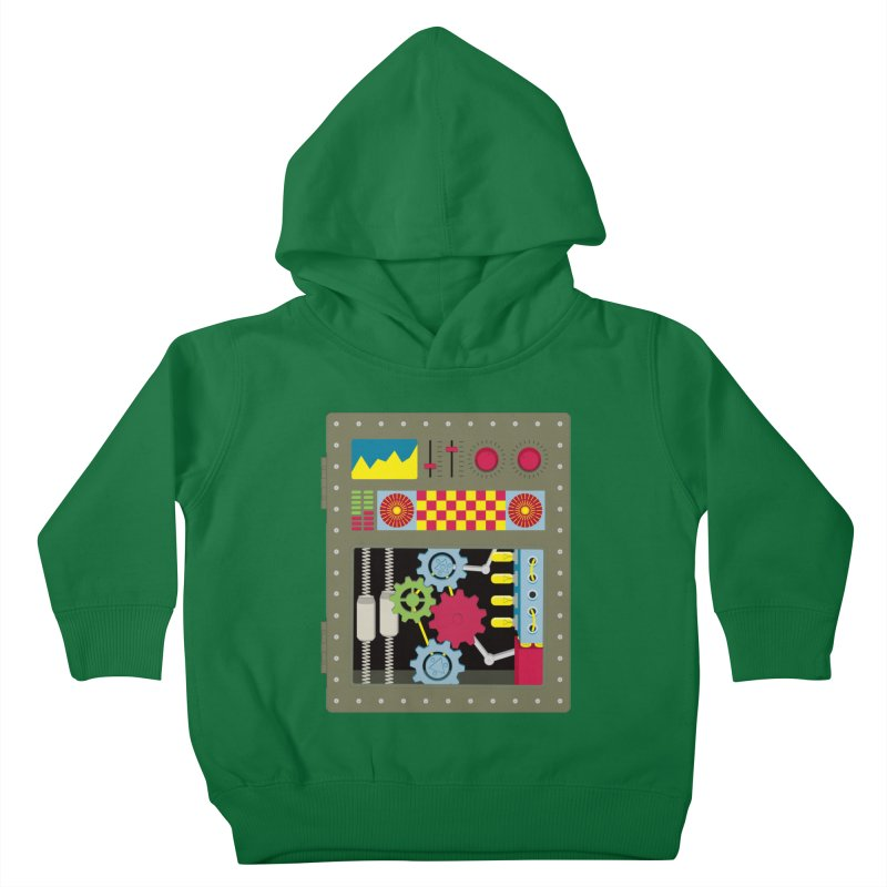VINTAGE ROBOT Kids Toddler Pullover Hoody by Sidewise Clothing & Design