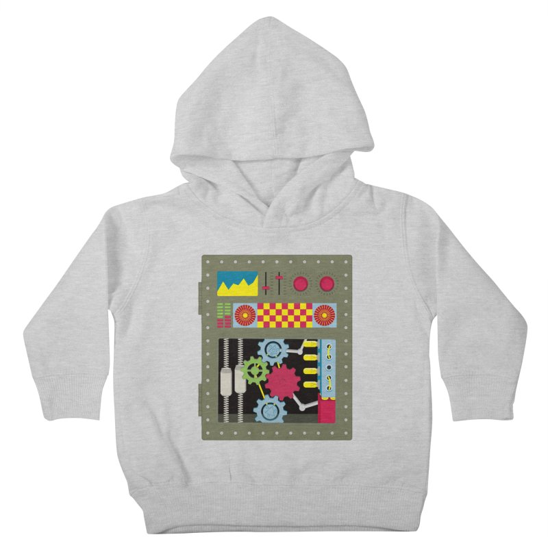 1950s RETRO STYLE VINTAGE ROBOT Kids Toddler Pullover Hoody by Sidewise Clothing & Design