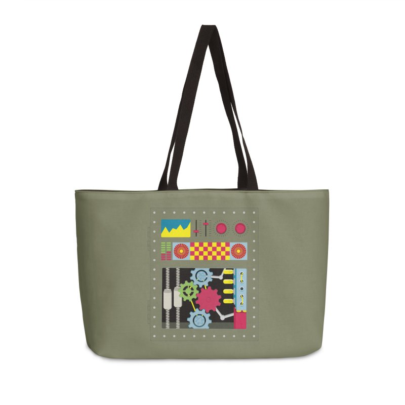 1950s RETRO STYLE VINTAGE ROBOT Accessories Weekender Bag Bag by Sidewise Clothing & Design