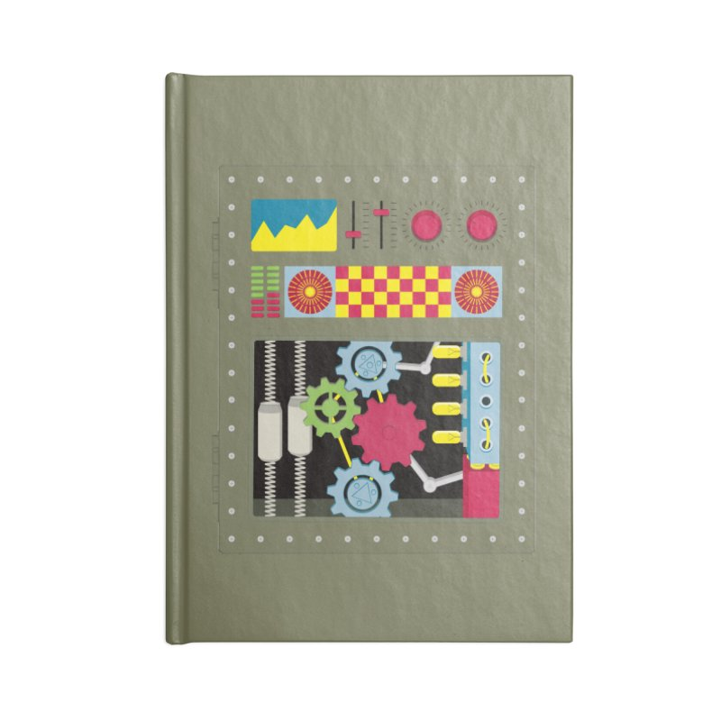 1950s RETRO STYLE VINTAGE ROBOT Accessories Lined Journal Notebook by Sidewise Clothing & Design
