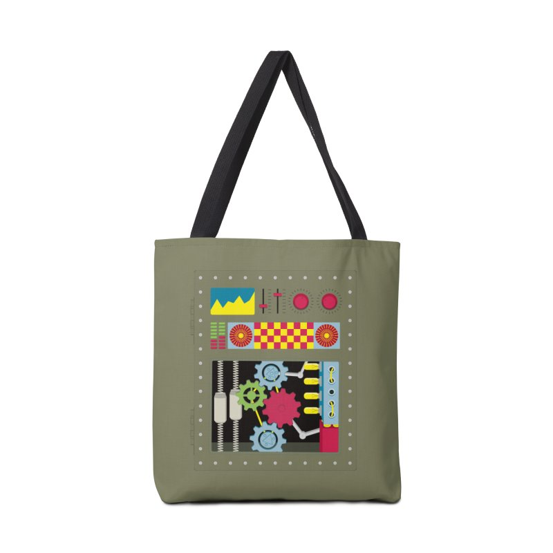 1950s RETRO STYLE VINTAGE ROBOT in Tote Bag by Sidewise Clothing & Design