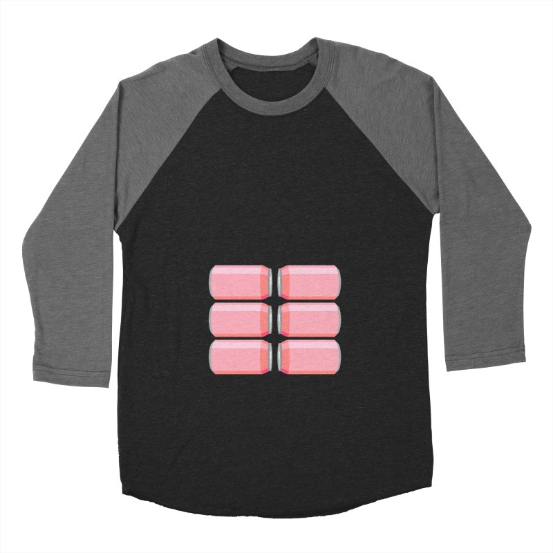 6-PACK ABS (for women) Women's Baseball Triblend Longsleeve T-Shirt by Sidewise Clothing & Design
