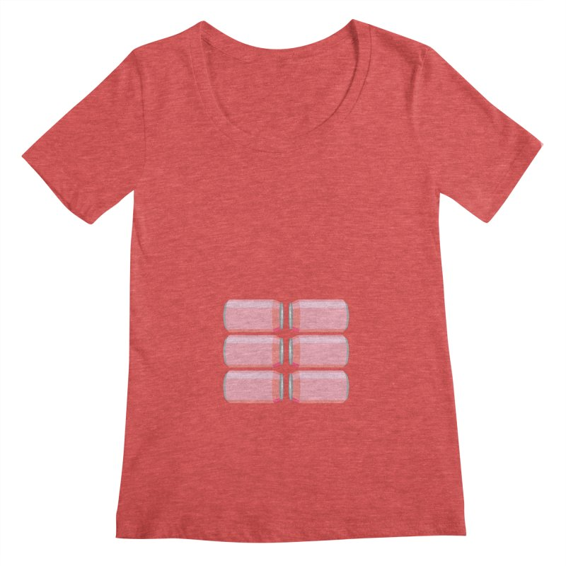 6-PACK ABS (for women) Women's Scoopneck by Sidewise Clothing & Design