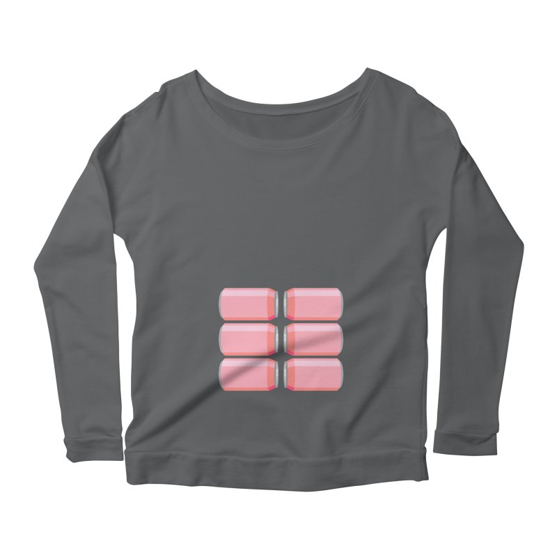 6-PACK ABS (for women) Women's Scoop Neck Longsleeve T-Shirt by Sidewise Clothing & Design