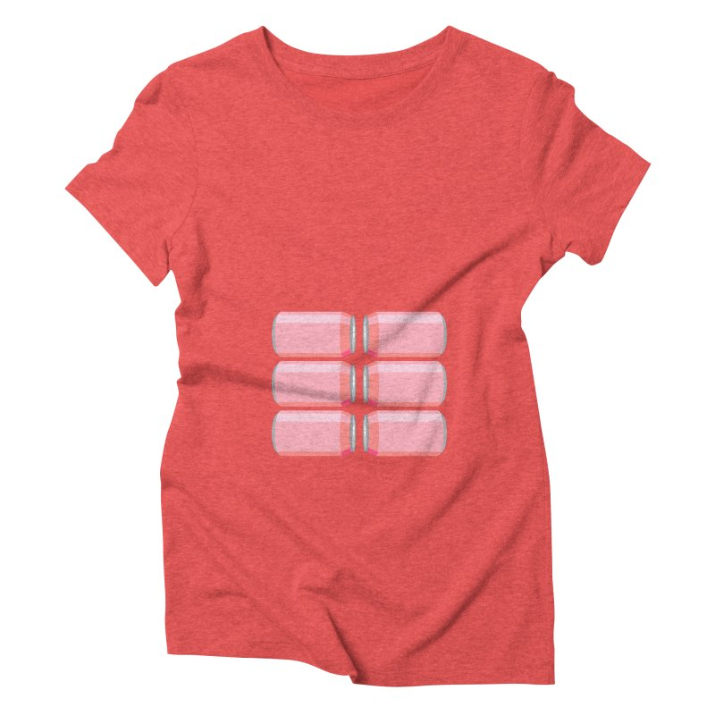 6-PACK ABS (for women) Women's Triblend T-Shirt by Sidewise Clothing & Design