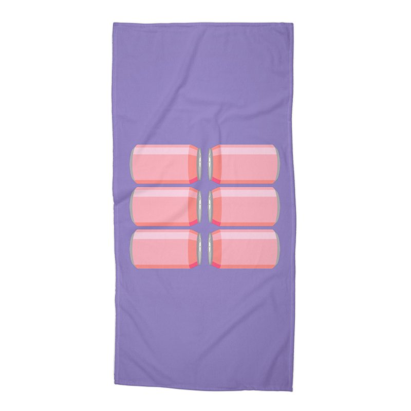 6-PACK ABS (for women) Accessories Beach Towel by Sidewise Clothing & Design