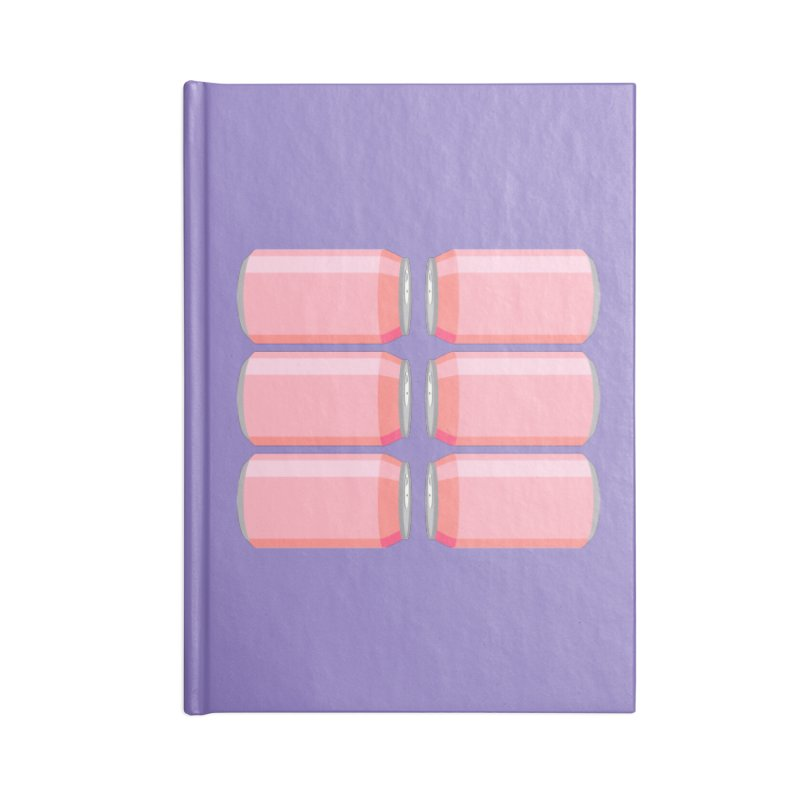 6-PACK ABS (for women) Accessories Blank Journal Notebook by Sidewise Clothing & Design
