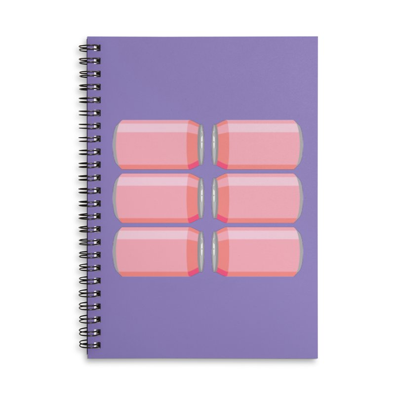 6-PACK ABS (for women) Accessories Lined Spiral Notebook by Sidewise Clothing & Design