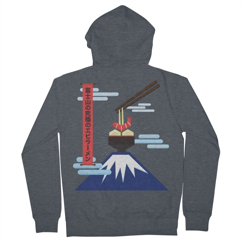 The Ultimate Shrimp Ramen of Mount Fuji Men's French Terry Zip-Up Hoody by Sidewise Clothing & Design