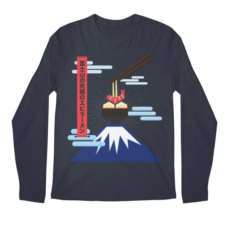The Ultimate Shrimp Ramen of Mount Fuji Men's Regular Longsleeve T-Shirt by Sidewise Clothing & Design