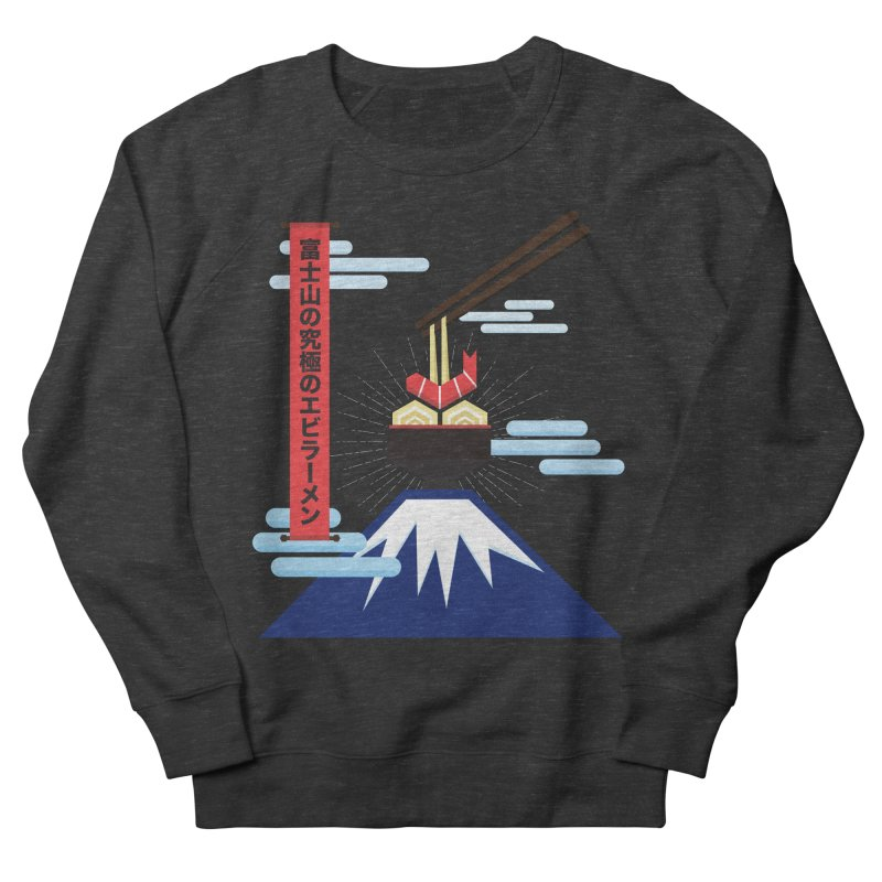 The Ultimate Shrimp Ramen of Mount Fuji Women's French Terry Sweatshirt by Sidewise Clothing & Design