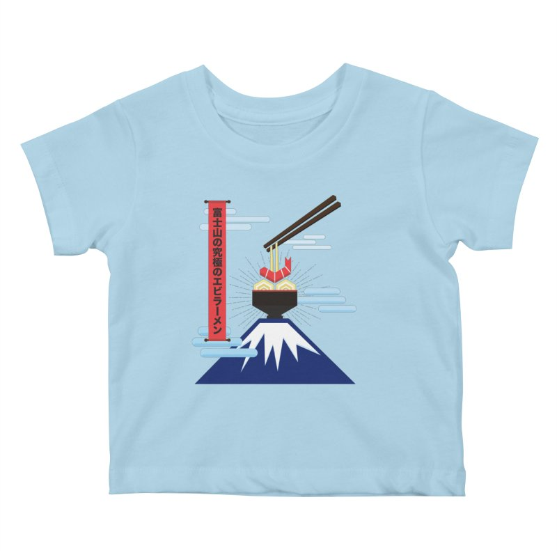 The Ultimate Shrimp Ramen of Mount Fuji Kids Baby T-Shirt by Sidewise Clothing & Design