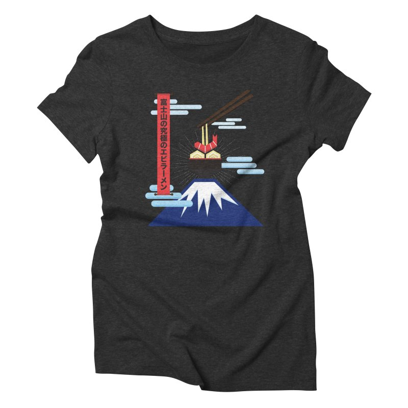The Ultimate Shrimp Ramen of Mount Fuji Women's Triblend T-Shirt by Sidewise Clothing & Design