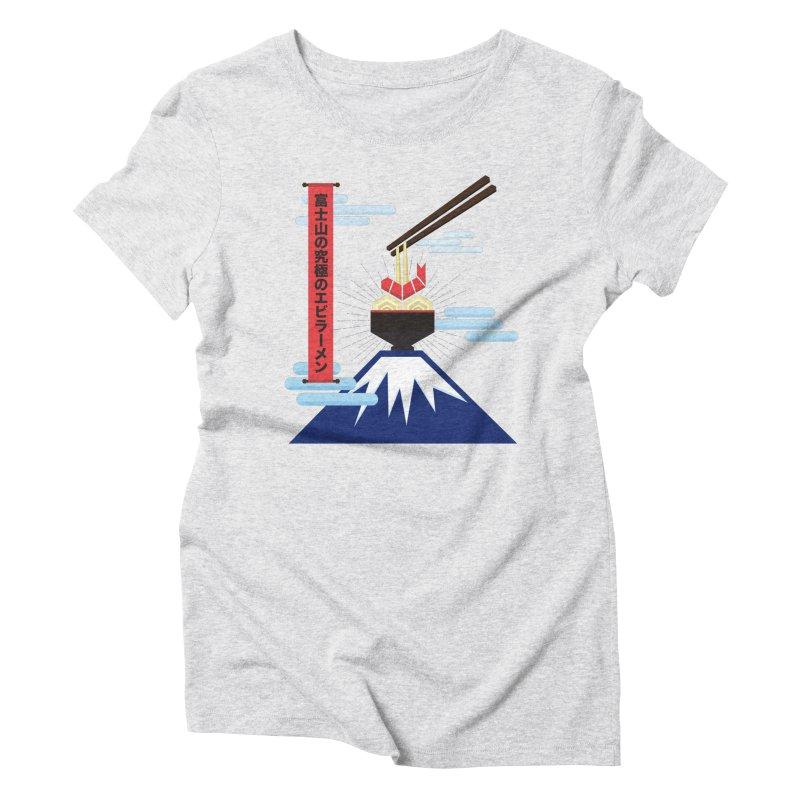 The Ultimate Shrimp Ramen of Mount Fuji Women's Triblend T-Shirt by Sidewise Clothing & Design