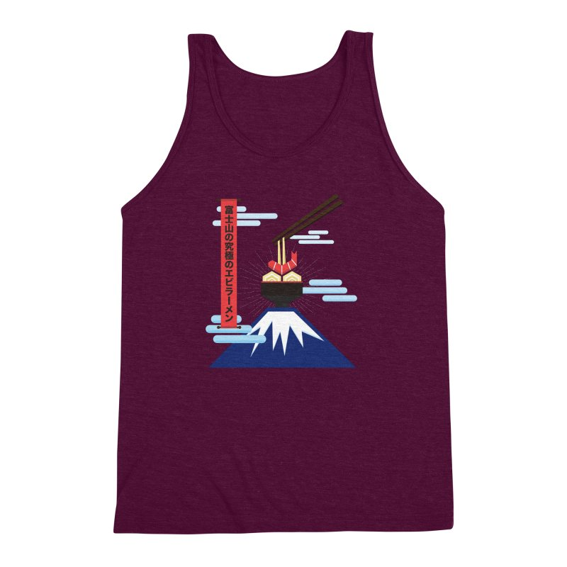 The Ultimate Shrimp Ramen of Mount Fuji Men's Triblend Tank by Sidewise Clothing & Design