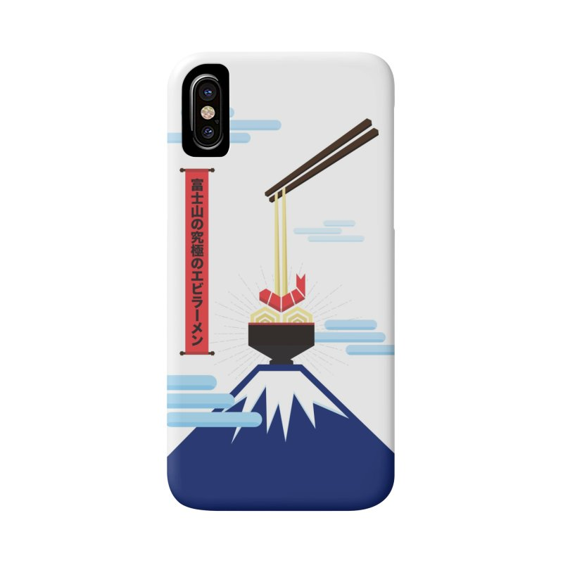 The Ultimate Shrimp Ramen of Mount Fuji in iPhone X / XS Phone Case Slim by Sidewise Clothing & Design