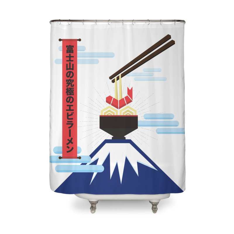 The Ultimate Shrimp Ramen of Mount Fuji Home Shower Curtain by Sidewise Clothing & Design
