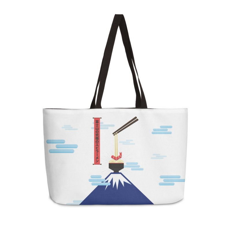 The Ultimate Shrimp Ramen of Mount Fuji Accessories Weekender Bag Bag by Sidewise Clothing & Design
