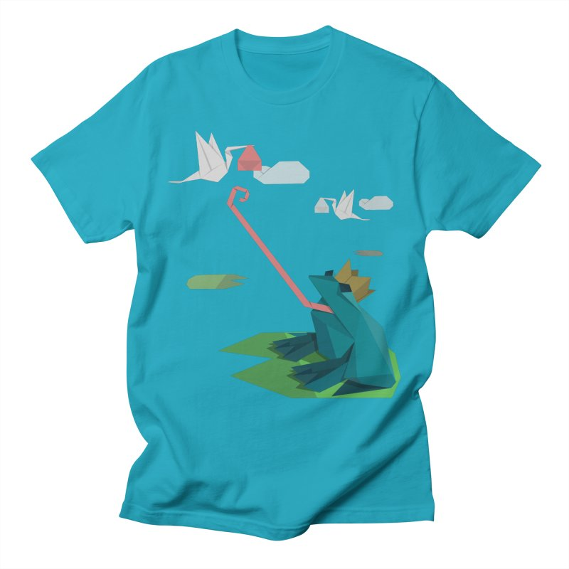 The Frog Prince and the Delivery Storks – An Origami Dark Fairy Tale Men's T-Shirt by Sidewise Clothing & Design