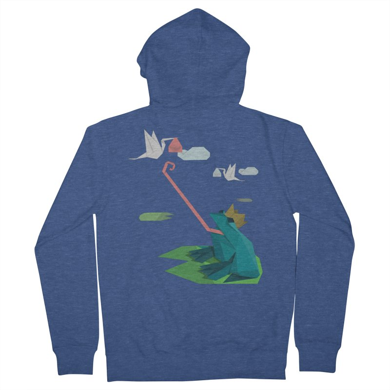 The Frog Prince and the Delivery Storks – An Origami Dark Fairy Tale Men's Zip-Up Hoody by Sidewise Clothing & Design