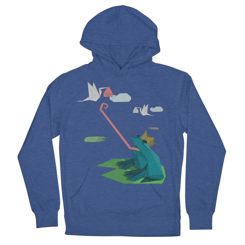 The Frog Prince and the Delivery Storks – An Origami Dark Fairy Tale Men's French Terry Pullover Hoody by Sidewise Clothing & Design