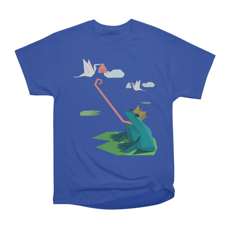 The Frog Prince and the Delivery Storks – An Origami Dark Fairy Tale Women's Heavyweight Unisex T-Shirt by Sidewise Clothing & Design