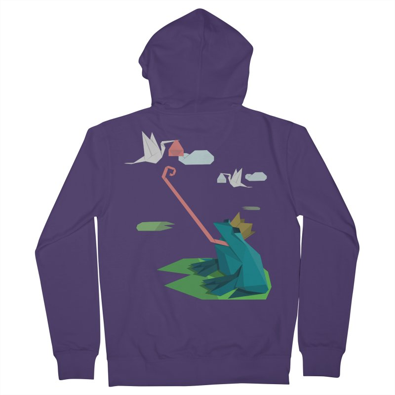 The Frog Prince and the Delivery Storks – An Origami Dark Fairy Tale Women's Zip-Up Hoody by Sidewise Clothing & Design