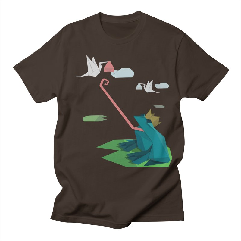 The Frog Prince and the Delivery Storks – An Origami Dark Fairy Tale Men's Regular T-Shirt by Sidewise Clothing & Design