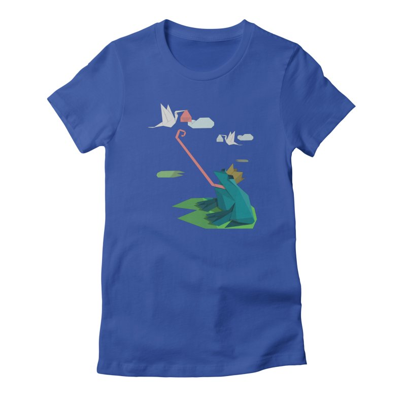 The Frog Prince and the Delivery Storks – An Origami Dark Fairy Tale Women's T-Shirt by Sidewise Clothing & Design