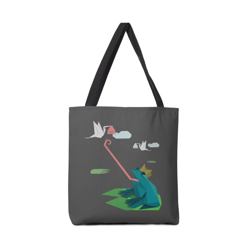 The Frog Prince and the Delivery Storks – An Origami Dark Fairy Tale Accessories Bag by Sidewise Clothing & Design