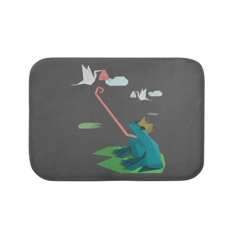 The Frog Prince and the Delivery Storks – An Origami Dark Fairy Tale Home Bath Mat by Sidewise Clothing & Design