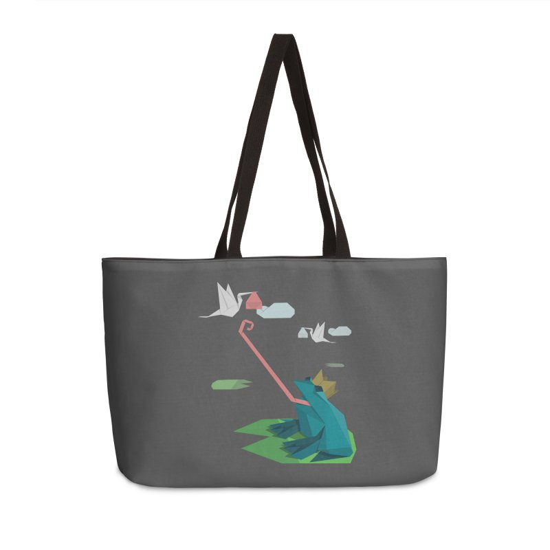 The Frog Prince and the Delivery Storks – An Origami Dark Fairy Tale Accessories Weekender Bag Bag by Sidewise Clothing & Design