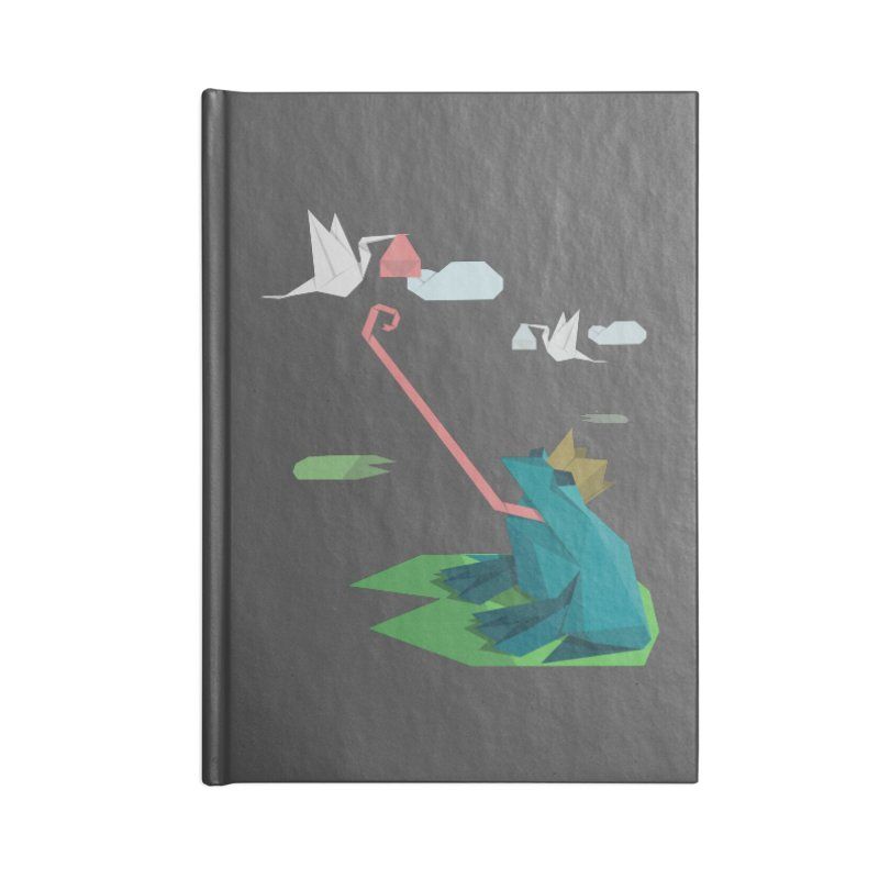 The Frog Prince and the Delivery Storks – An Origami Dark Fairy Tale Accessories Lined Journal Notebook by Sidewise Clothing & Design