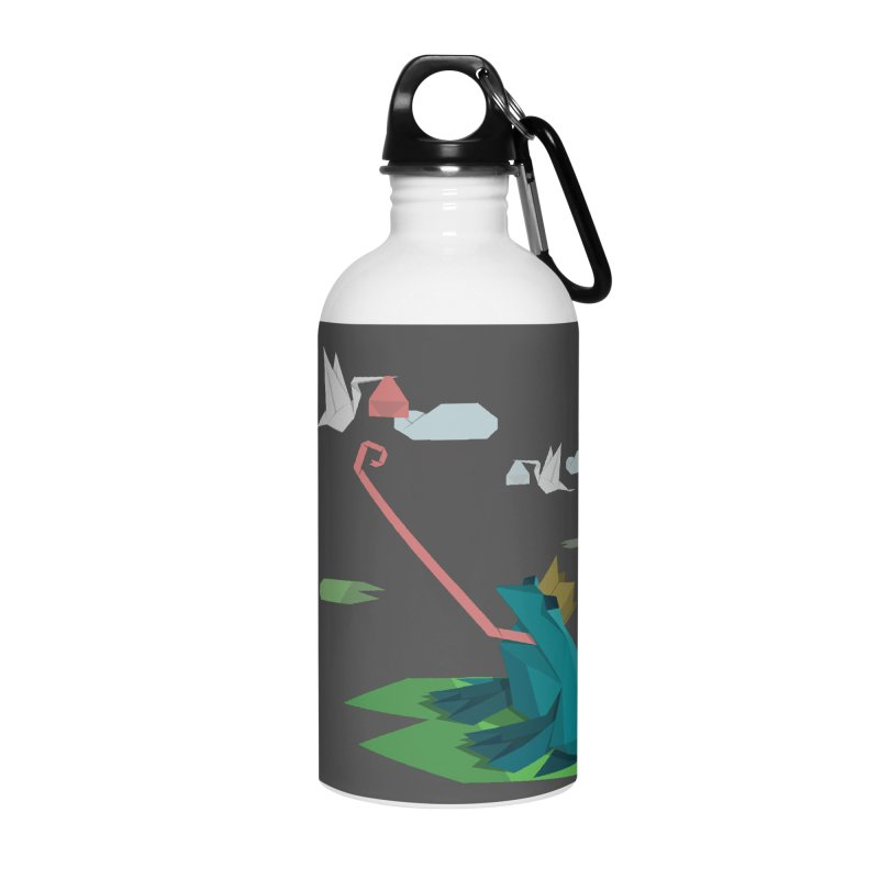The Frog Prince and the Delivery Storks – An Origami Dark Fairy Tale Accessories Water Bottle by Sidewise Clothing & Design