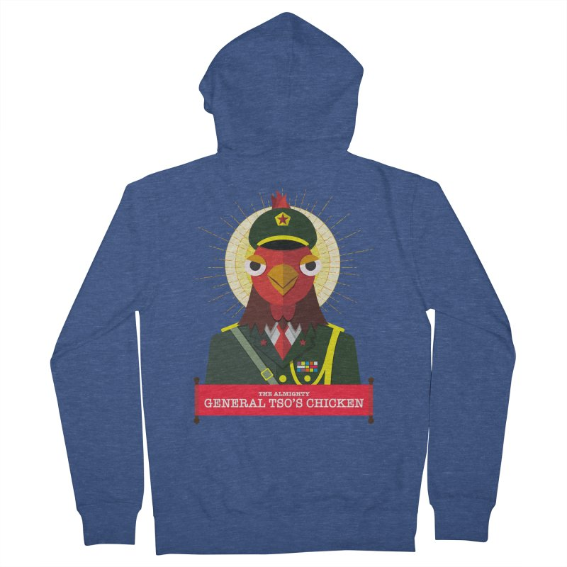 The Almighty General Tso's Chicken Women's French Terry Zip-Up Hoody by Sidewise Clothing & Design