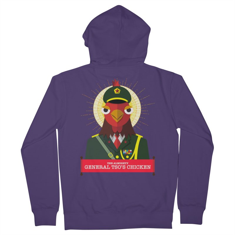 The Almighty General Tso's Chicken Women's Zip-Up Hoody by Sidewise Clothing & Design
