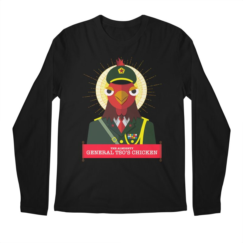 The Almighty General Tso's Chicken Men's Regular Longsleeve T-Shirt by Sidewise Clothing & Design