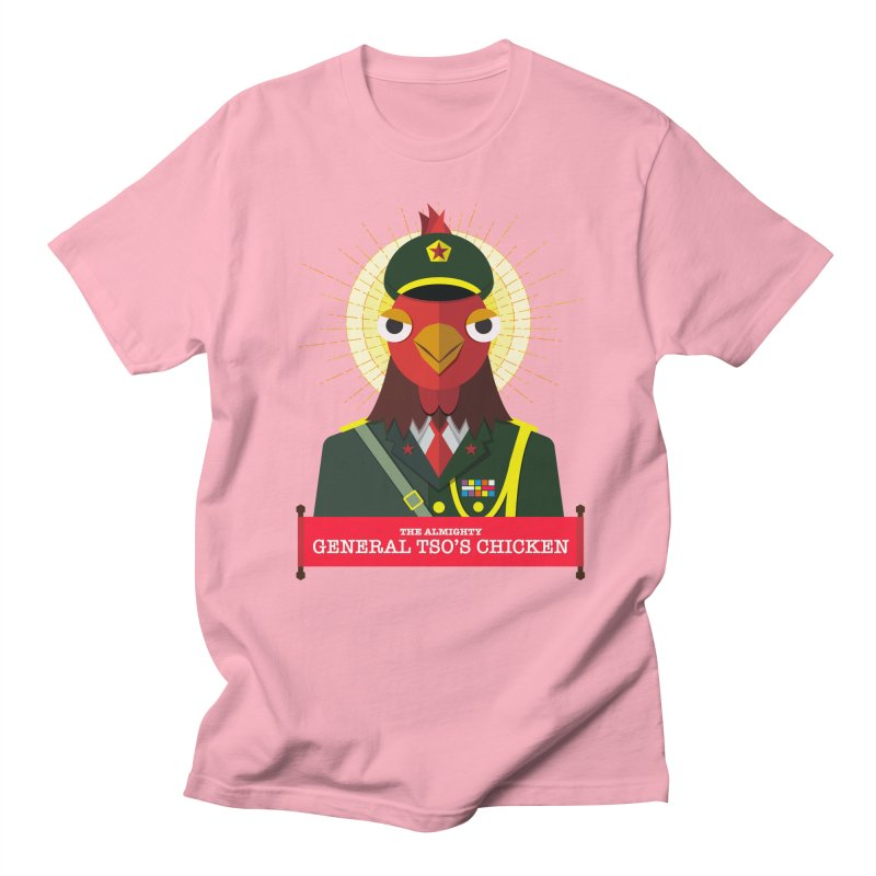 The Almighty General Tso's Chicken Men's Regular T-Shirt by Sidewise Clothing & Design