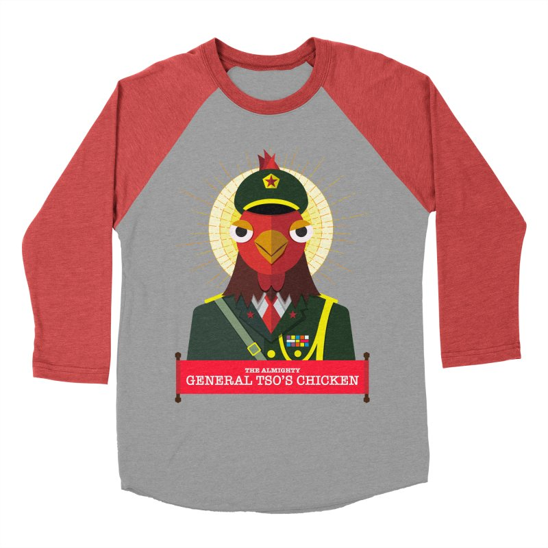The Almighty General Tso's Chicken Men's Baseball Triblend Longsleeve T-Shirt by Sidewise Clothing & Design