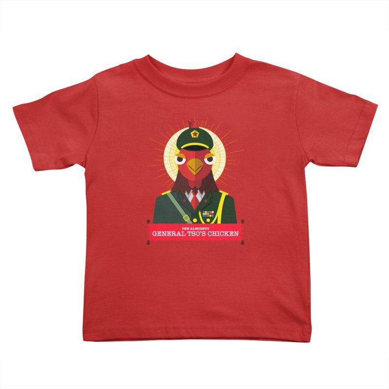 The Almighty General Tso's Chicken Kids Toddler T-Shirt by Sidewise Clothing & Design