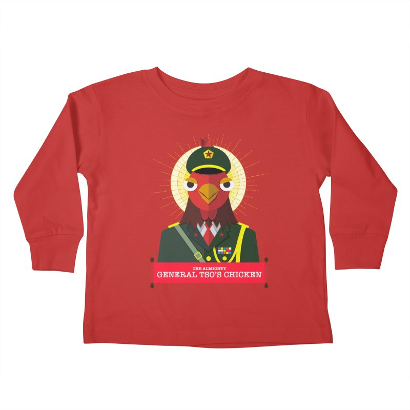 The Almighty General Tso's Chicken Kids Toddler Longsleeve T-Shirt by Sidewise Clothing & Design