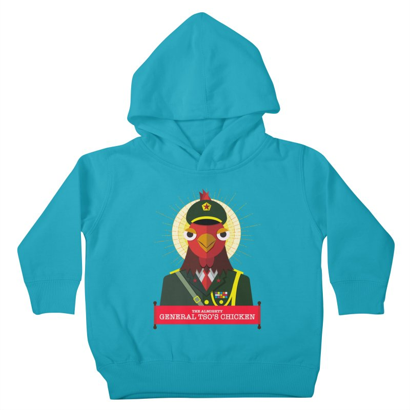 The Almighty General Tso's Chicken Kids Toddler Pullover Hoody by Sidewise Clothing & Design