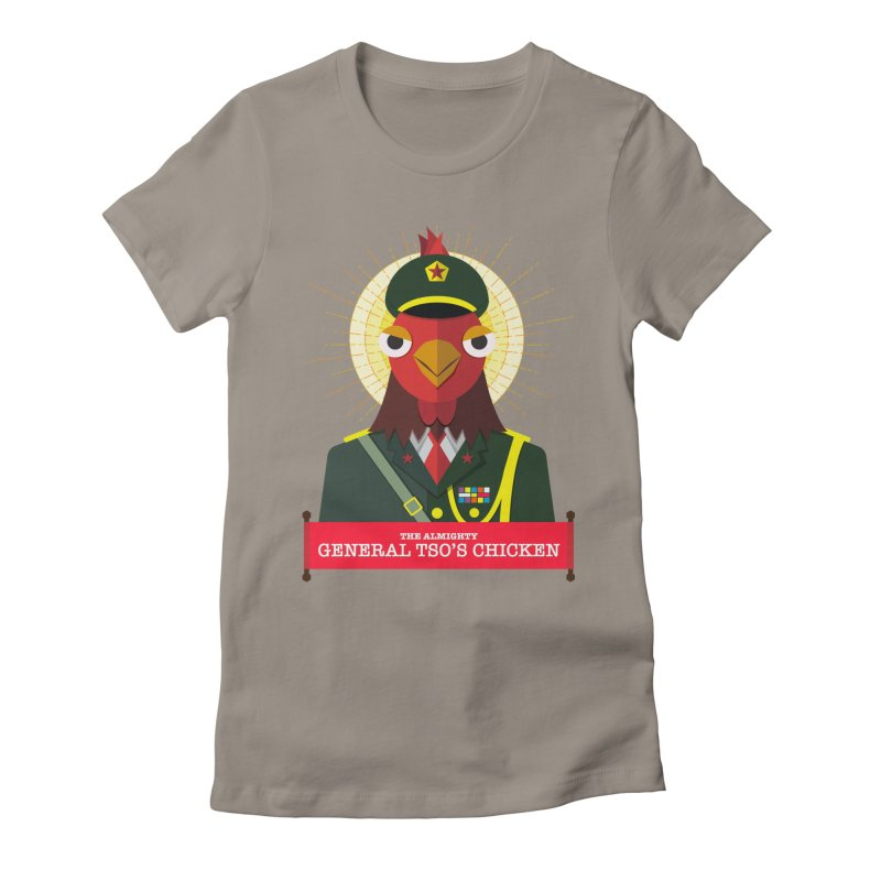 The Almighty General Tso's Chicken Women's Fitted T-Shirt by Sidewise Clothing & Design