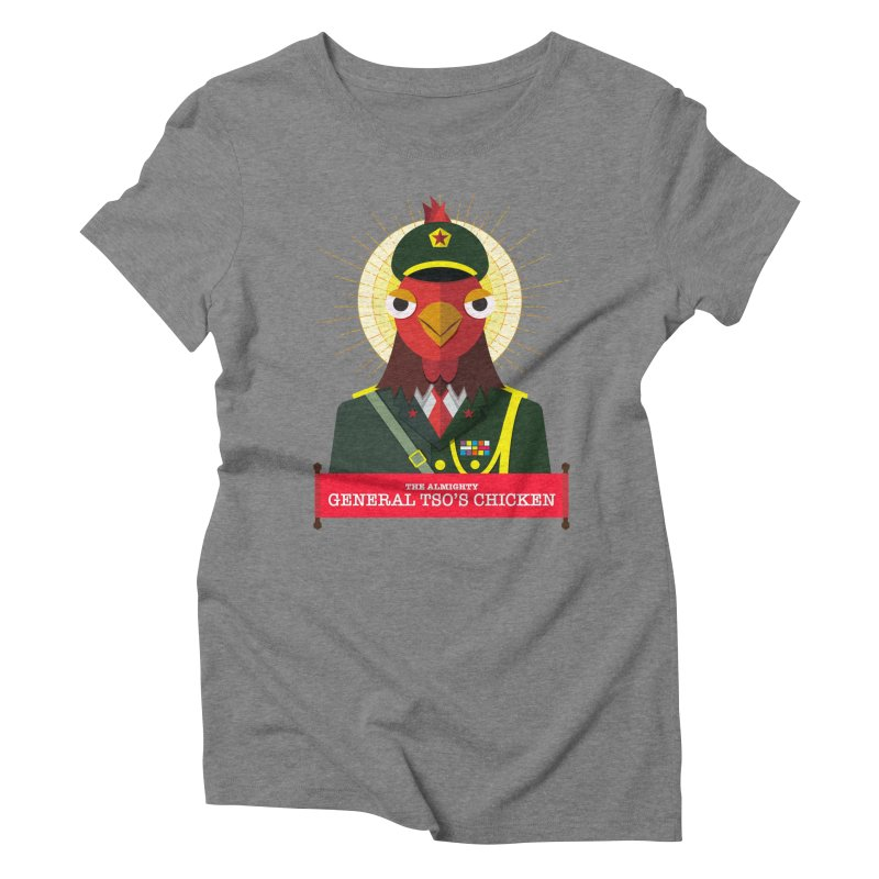 The Almighty General Tso's Chicken Women's Triblend T-Shirt by Sidewise Clothing & Design