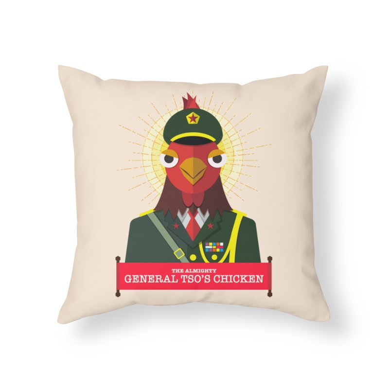 The Almighty General Tso's Chicken Home Throw Pillow by Sidewise Clothing & Design